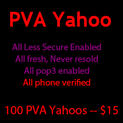 100 PVA yahoo accounts
