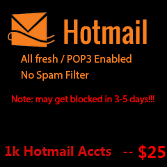 Buy Hotmail Accounts (1000)