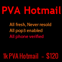 1000 PVA hotmail accounts