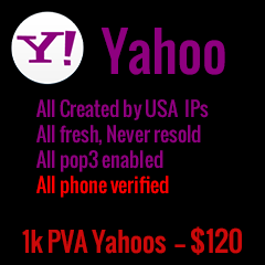 1000 PVA Yahoo accounts