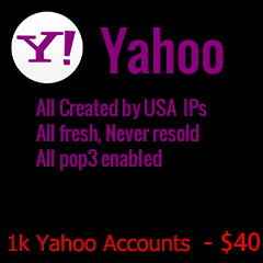 1000 yahoo accounts
